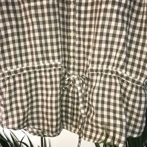 Joe Fresh Tops - Joe Fresh Green/White tie flannel